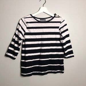 💫 3 for 30 💫 Black and White Striped Top
